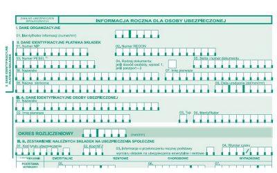 Informacja roczna dla osoby ubezpieczonej – RMUA za 2016 r.