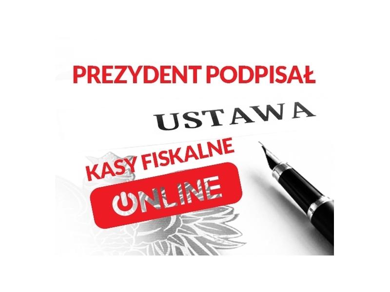 Kasy fiskalne online: Prezydent podpisał ustawę!